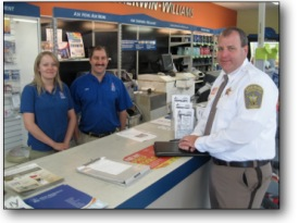 Sheriff Armentrout at Sherwin-Williams