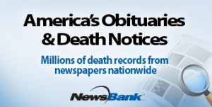 Americas Obituaries and Death Notices News Bank Logo