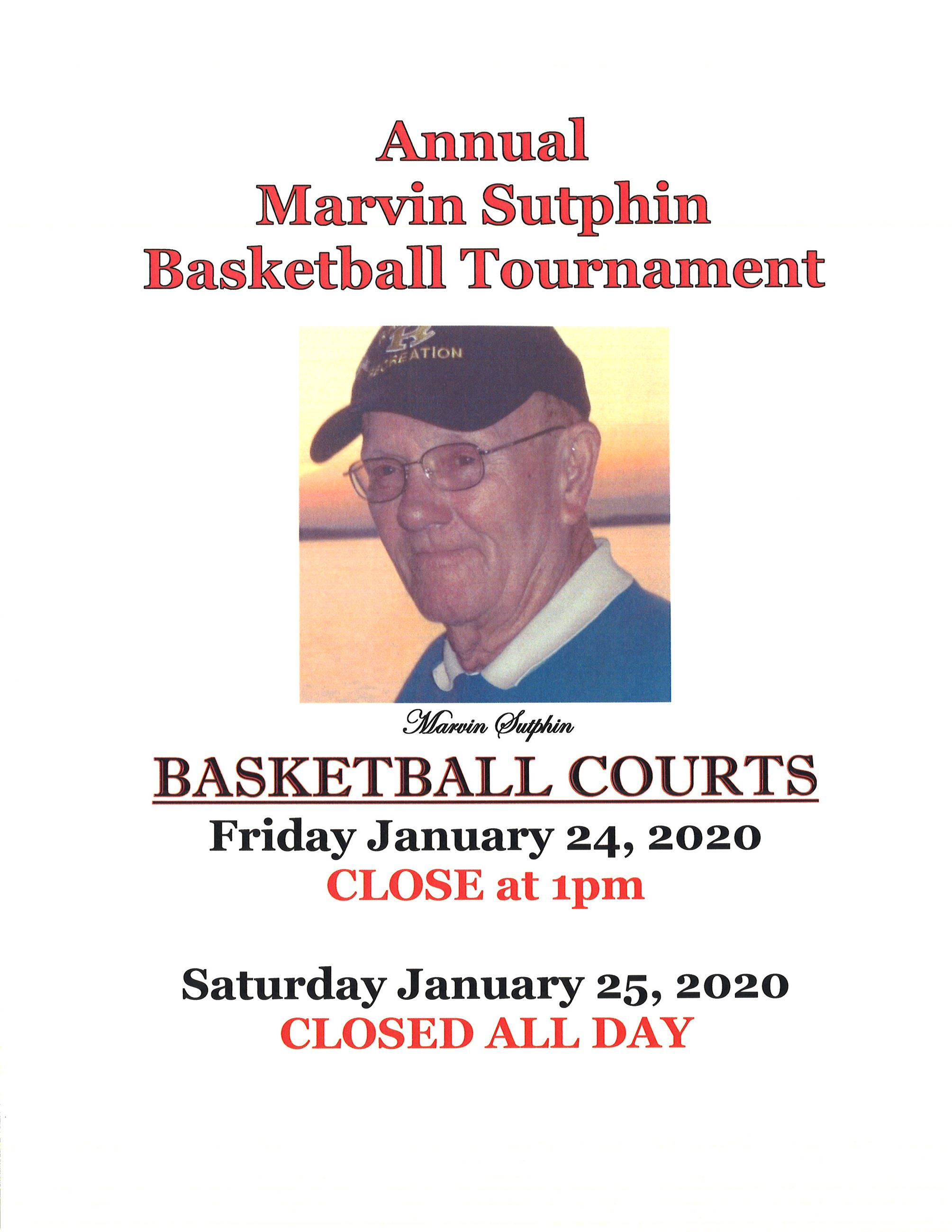 Closing Sign Marvin Sutphin Tournament 2020