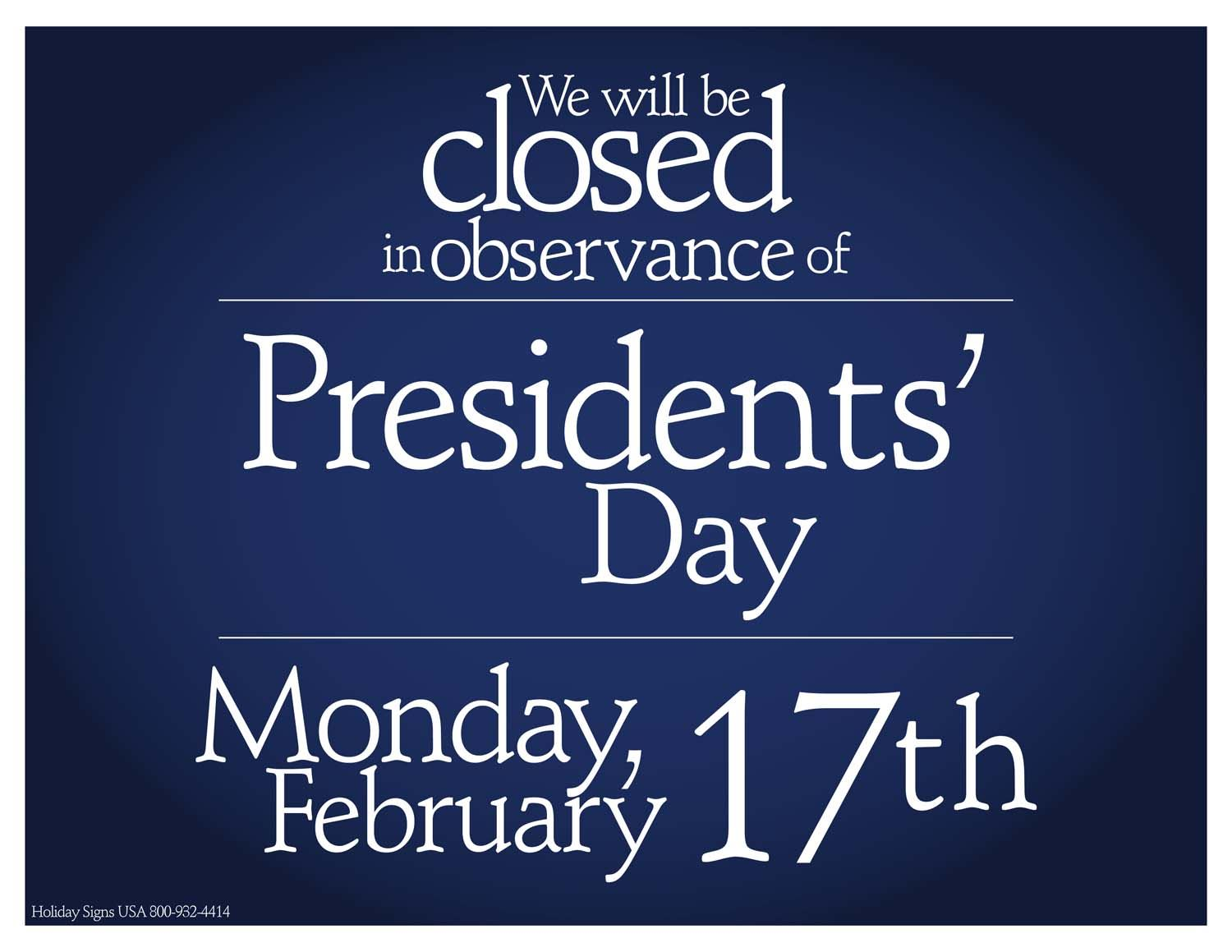 Presidents Day 2020