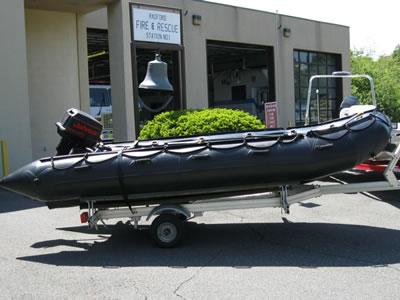 Zodiac Inflatable Boat in Black