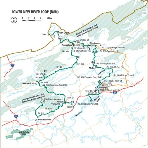 Lower New River Loop Map